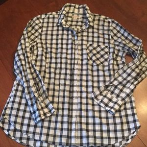 Merona Black and white checkered shirt